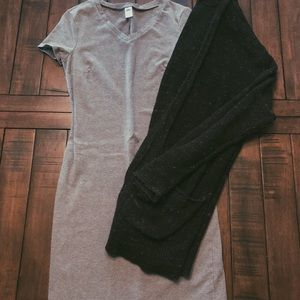 Gray body-con dress